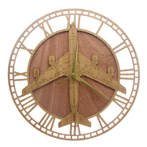Boeing KC-135 Stratotanker Designed Wooden Wall Clocks