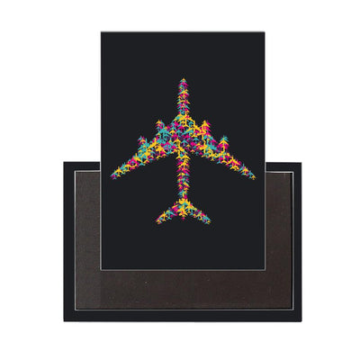 Colourful Airplane Designed Magnets