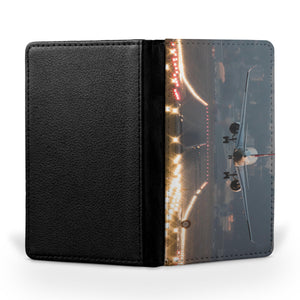 Magnificent Airplane Landing Printed Passport & Travel Cases