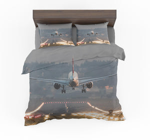 Magnificent Airplane Landing Designed Bedding Sets