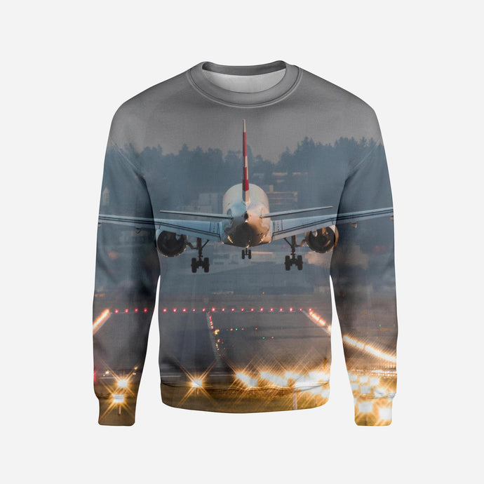 Magnificent Airplane Landing Printed 3D Sweatshirts
