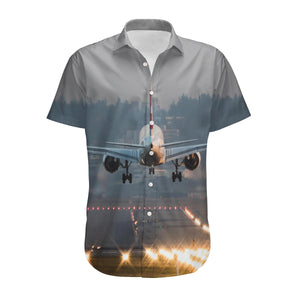 Magnificent Airplane Landing Designed 3D Shirts