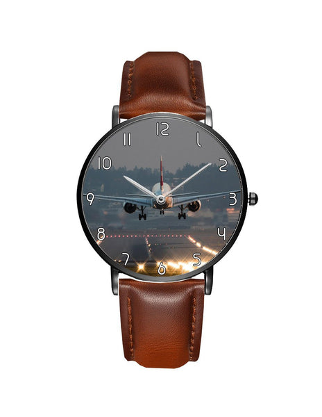 Magnificant Landing Printed Leather Strap Watches