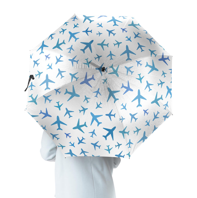 Many Airplanes Designed Umbrella