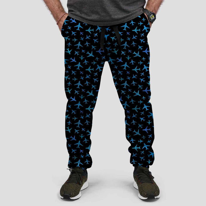 Many Airplanes Designed Sweat Pants & Trousers