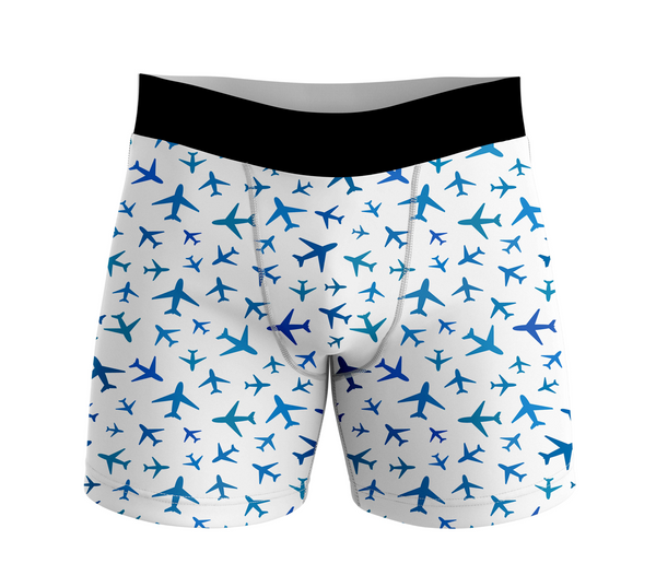 Many Airplanes Designed Men Boxers