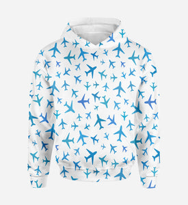 Many Airplanes Printed 3D Hoodies