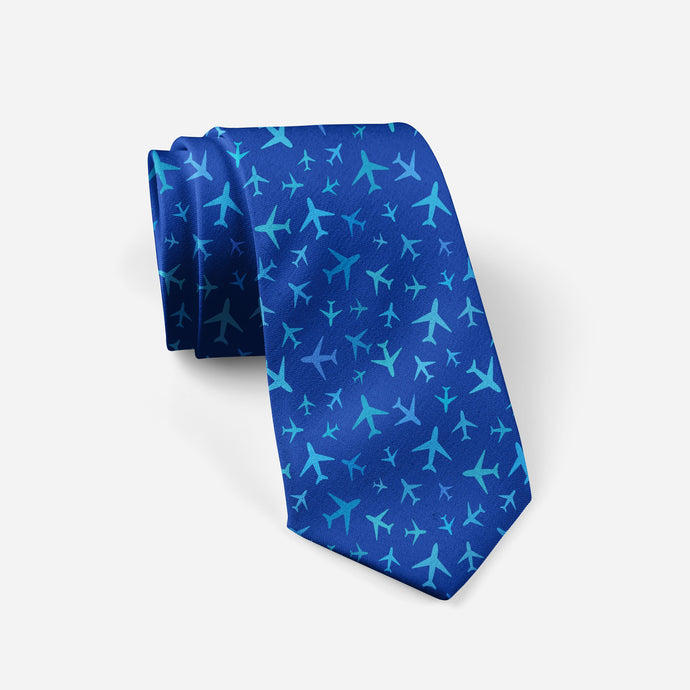 Many Airplanes (Blue) Designed Ties
