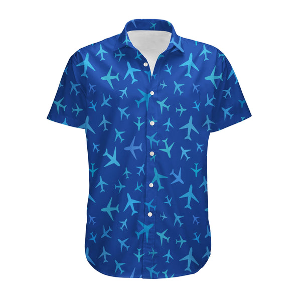 Many Airplanes (Blue) Designed 3D Shirts