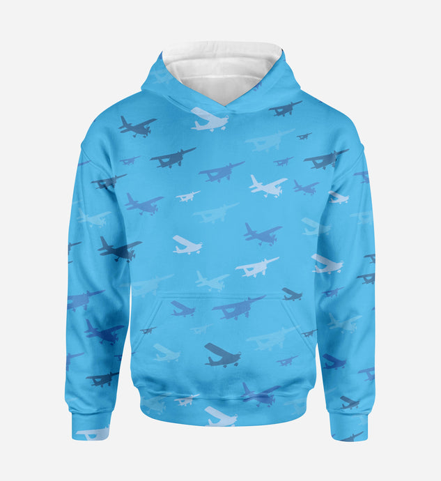 Many Propellers Printed 3D Hoodies
