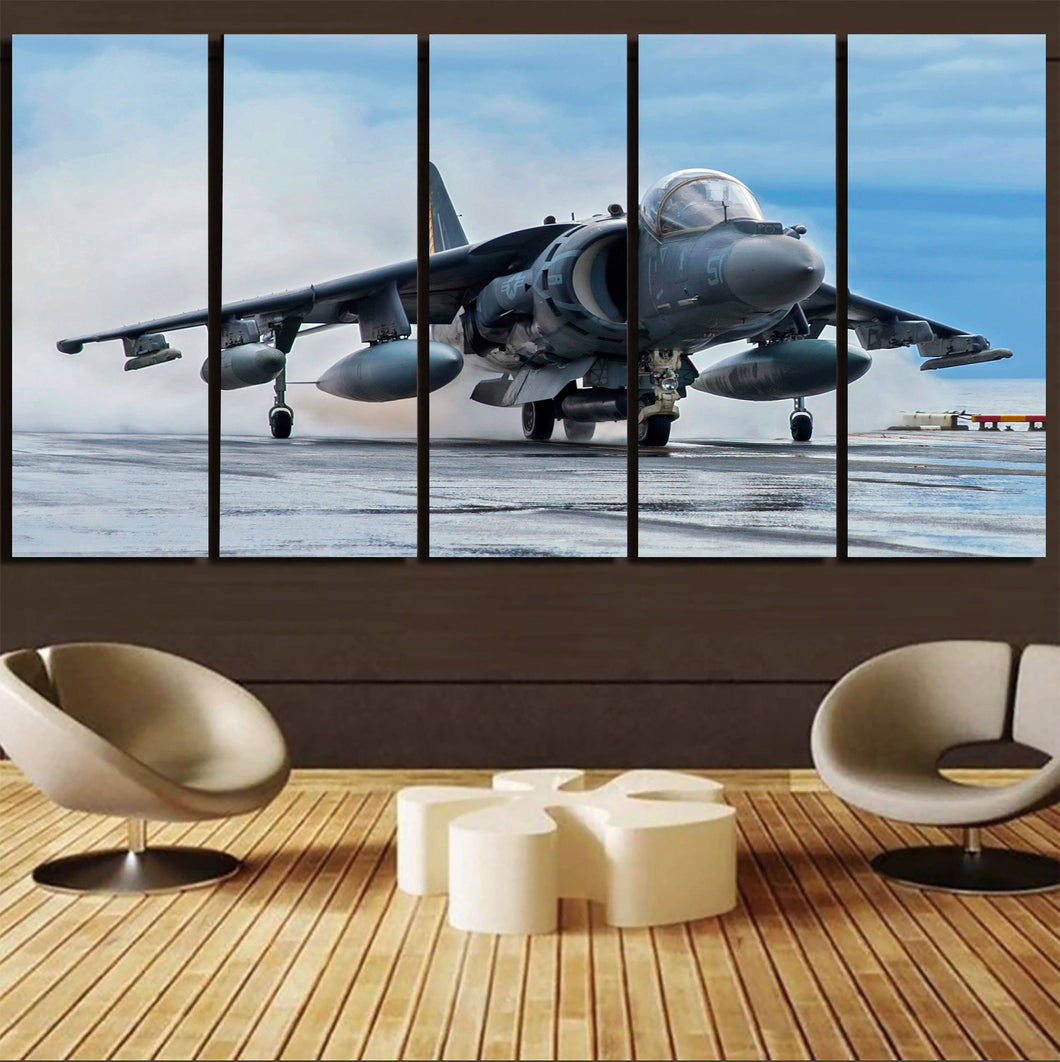 McDonnell Douglas AV-8B Harrier II Printed Canvas Prints (5 Pieces) Aviation Shop