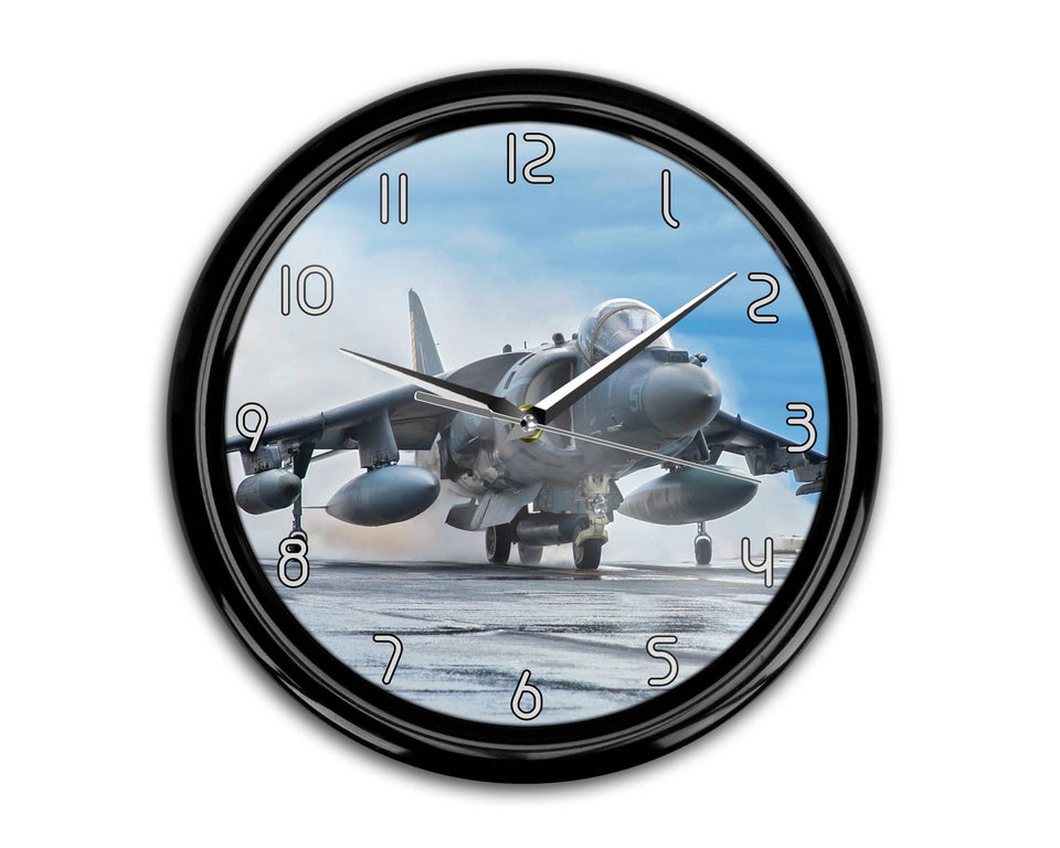 McDonnell Douglas AV-8B Harrier II Printed Wall Clocks Aviation Shop