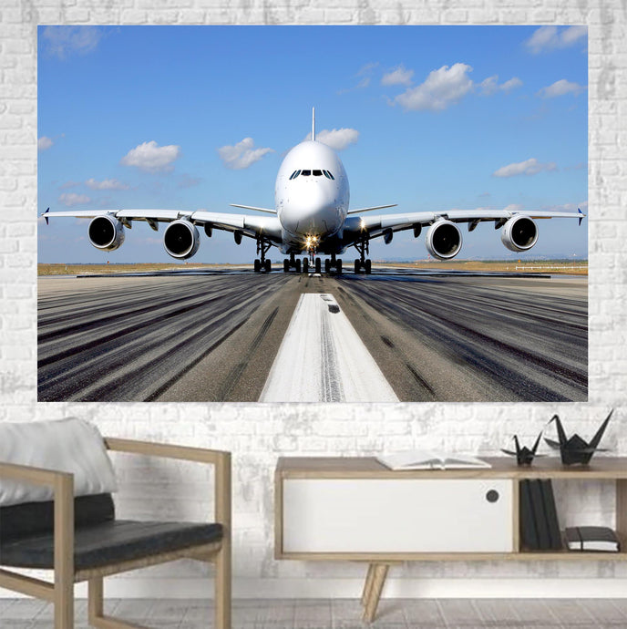 Mighty Airbus A380 Printed Canvas Posters (1 Piece)