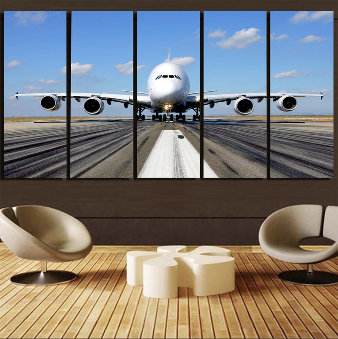 Mighty Airbus A380 Canvas Prints (5 Pieces)