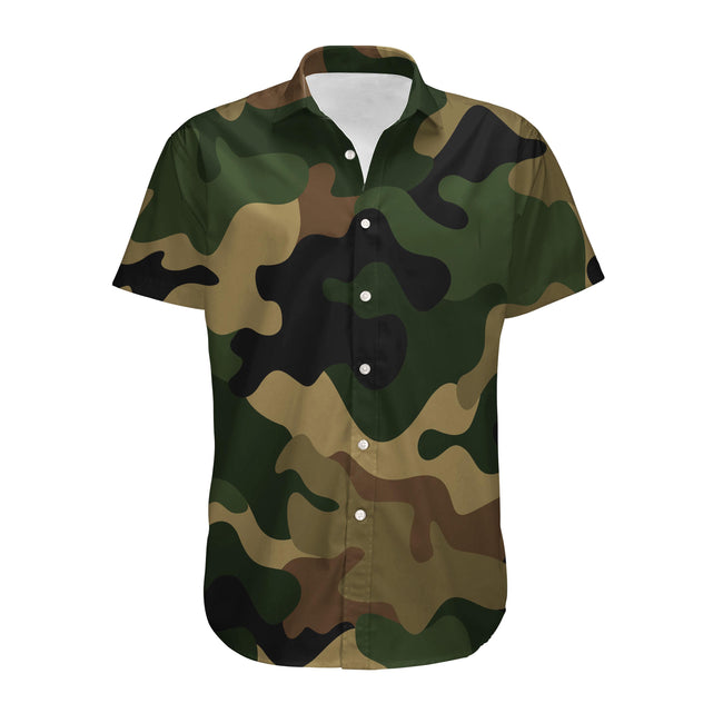 Military Camouflage Army Green Designed 3D Shirts
