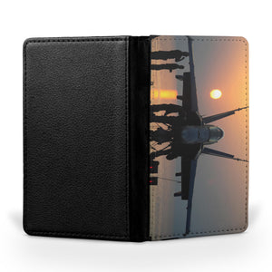 Military Jet During Sunset Printed Passport & Travel Cases