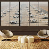 Military Jets Printed Canvas Prints (5 Pieces) Aviation Shop