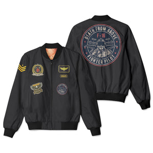 Mixed Patches Project Designed 3D Pilot Bomber Jackets