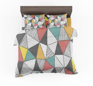 Mixed Triangles Designed Bedding Sets