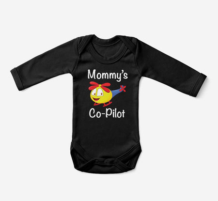 Mommy's Co-Pilot (Helicopter) Designed Baby Bodysuits