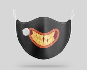 "Monster Mouth ""2"" Designed Face Masks"