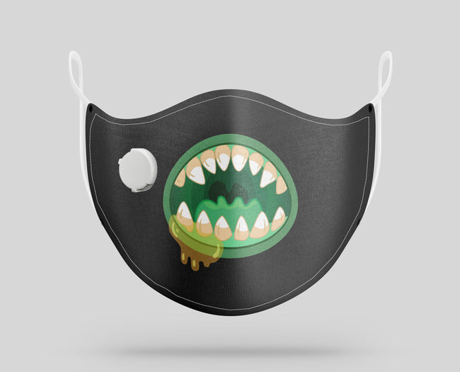 "Monster Mouth ""3"" Designed Face Masks"