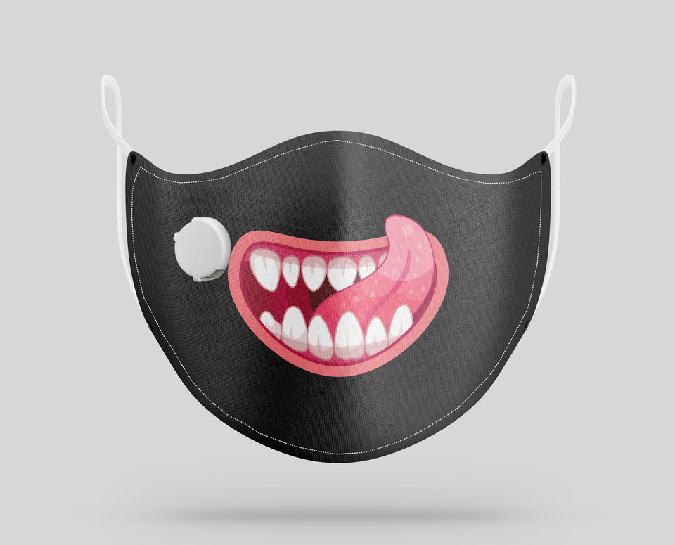 "Monster Mouth ""8"" Designed Face Masks"