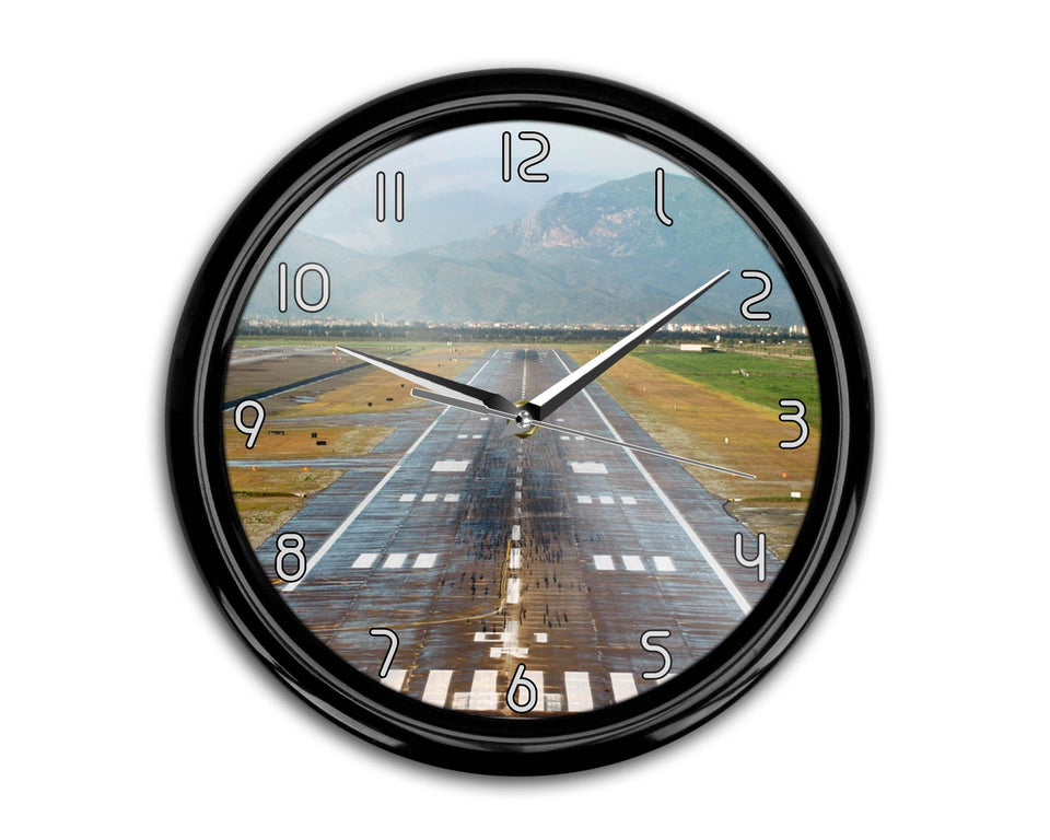 Mountain View and & Runway Printed Wall Clocks Aviation Shop