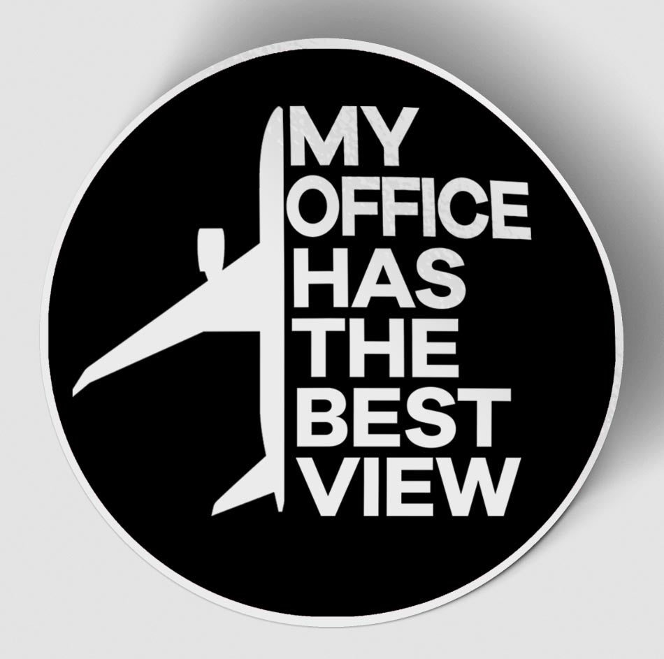 My Office Has The Best View Designed Stickers