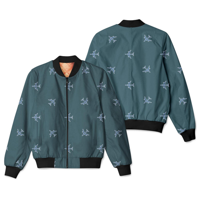 Nice Airplanes (Green) Designed 3D Pilot Bomber Jackets