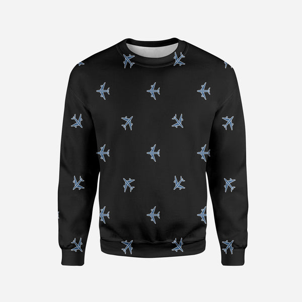 Nice Airplanes (Black) Printed 3D Sweatshirts