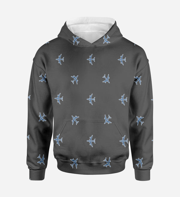 Nice Airplanes (Gray) Printed 3D Hoodies