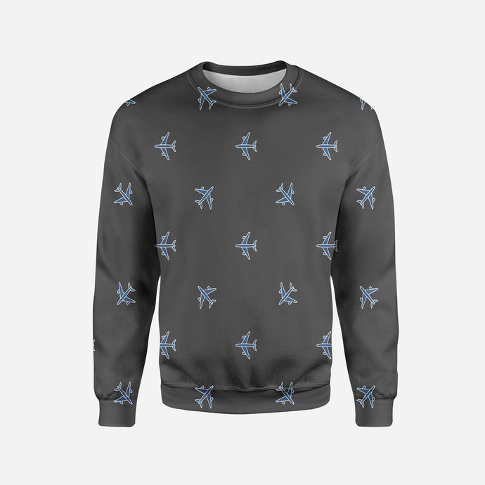 Nice Airplanes (Gray) Printed 3D Sweatshirts