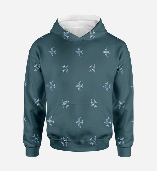 Nice Airplanes (Green) Printed 3D Hoodies