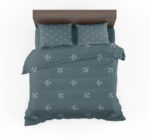 Nice Airplanes (Green) Designed Bedding Sets