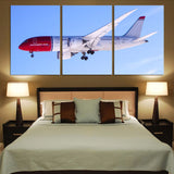 Norwegian Boeing 787 Printed Canvas Posters (3 Pieces)