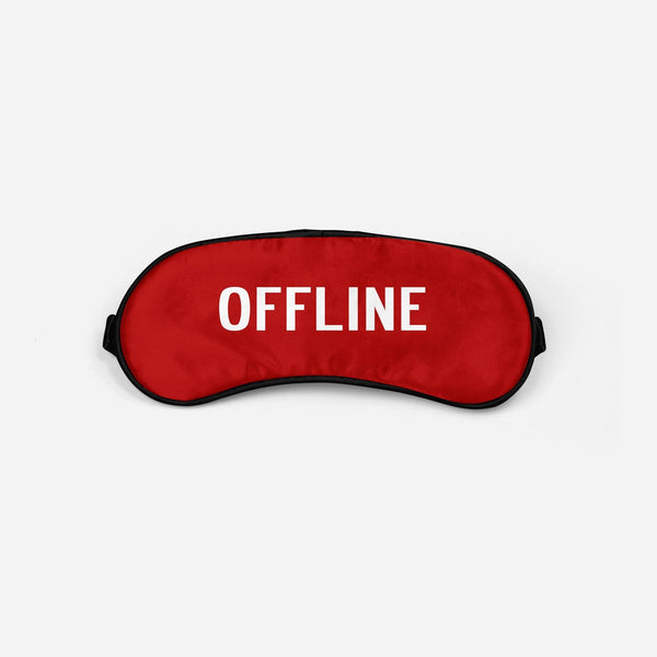 Offline Sleep Masks Aviation Shop Red Sleep Mask