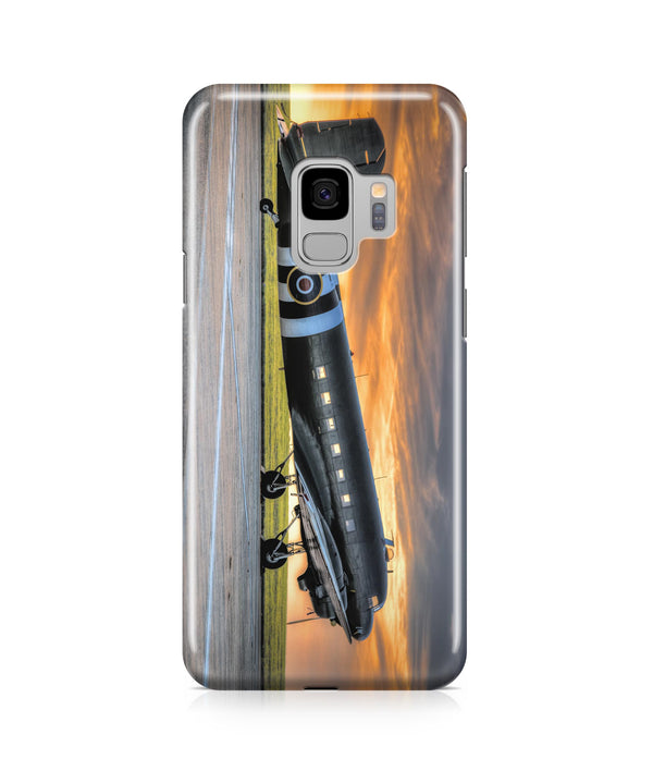 Old Airplane Parked During Sunset Printed Samsung J Cases