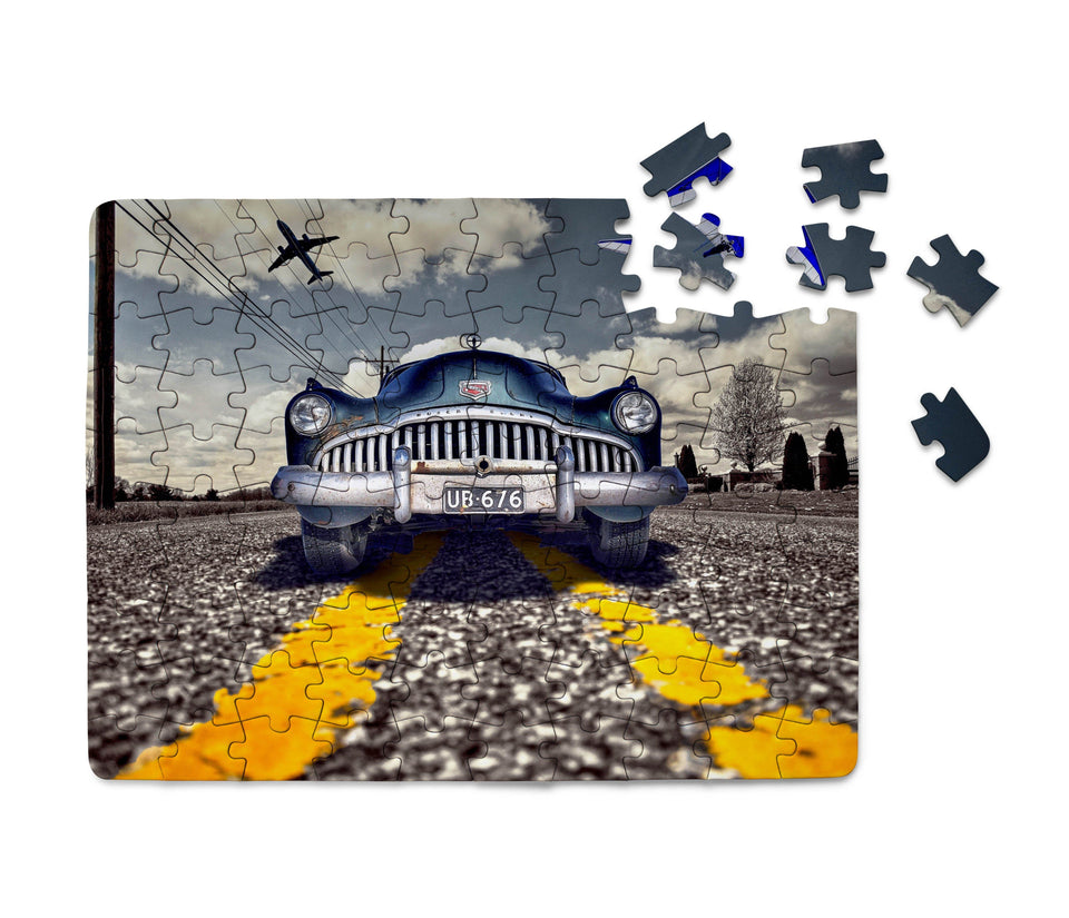 Old Car and Planes Printed Puzzles Aviation Shop