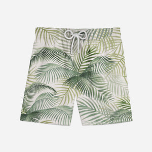 Palm Leaf & Summer Designed Swim Trunks