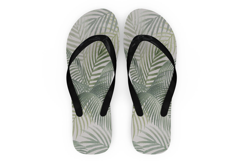 Palm Leaf & Summer Designed Slippers (Flip Flops)
