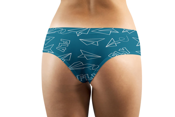Paper Airplane & Fly Designed Women Panties & Shorts