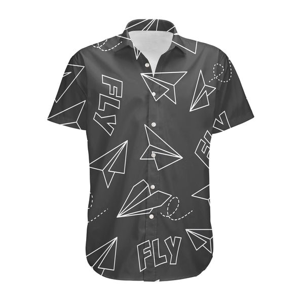 Paper Airplane & Fly (Gray) Designed 3D Shirts
