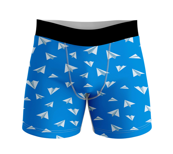 Paper Airplanes Designed Men Boxers