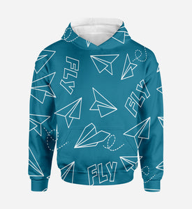 Paper Airplane & Fly Printed 3D Hoodies