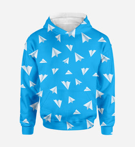 Paper Airplanes Printed 3D Hoodies