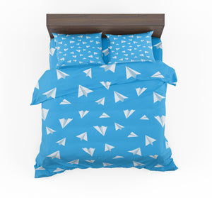 Paper Airplanes Designed Bedding Sets