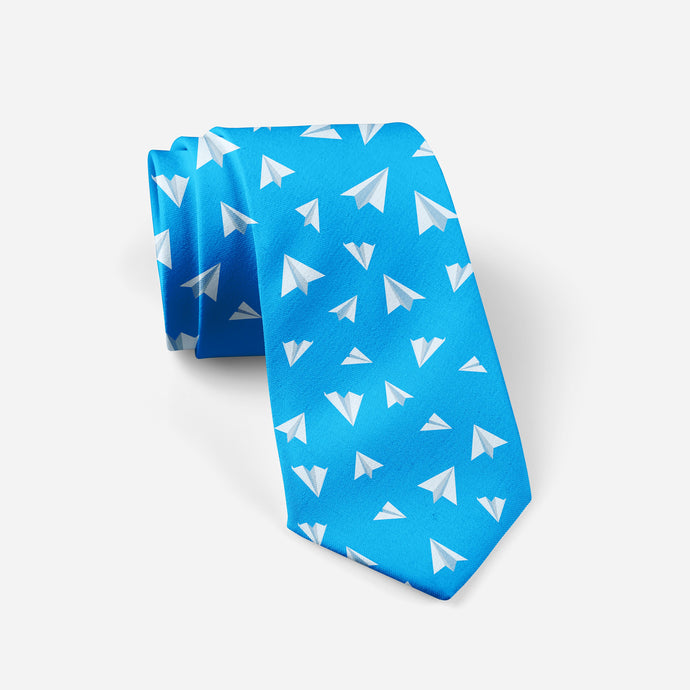 Paper Airplanes (Blue) Designed Ties