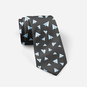 Paper Airplanes (Gray) Designed Ties