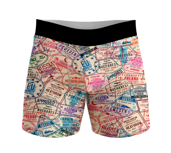 Passport Stamps Designed Men Boxers